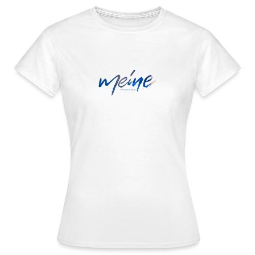 Meine Logo Blau - Frauen T-Shirt