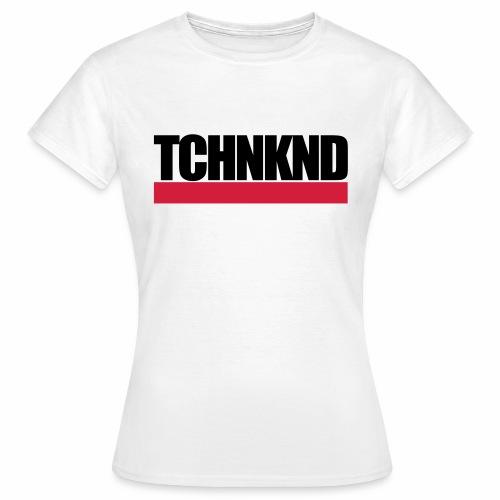 TCHNKND Technokind MNML Schriftzug - Frauen T-Shirt