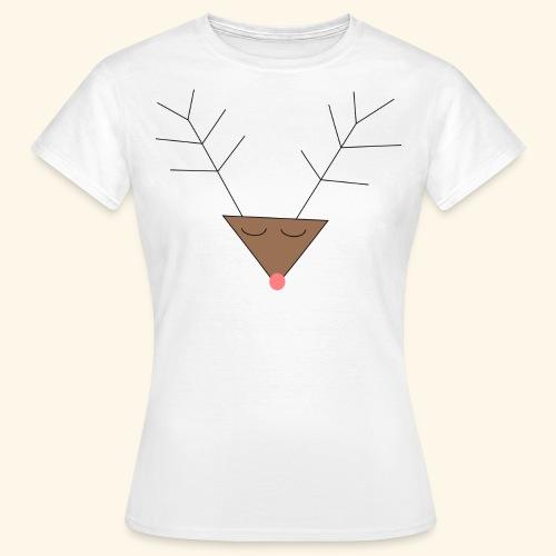 Pink nose reindeer - T-shirt Femme