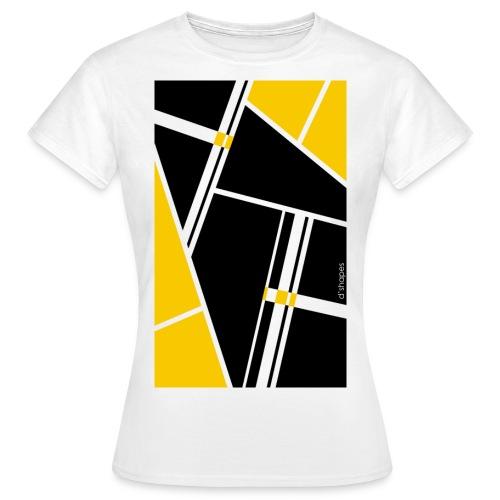 d'shapes black yellow - Maglietta da donna