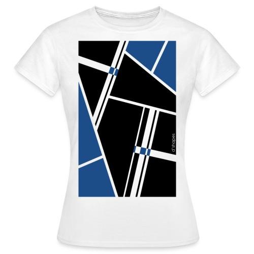d'shapes black blue - Maglietta da donna