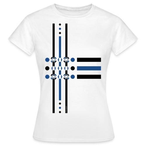 q4 blu - Maglietta da donna