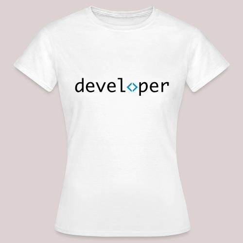 developer, coder, geek, hipster, nerd - Frauen T-Shirt
