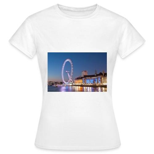 Trøje med biled af london på - Dame-T-shirt
