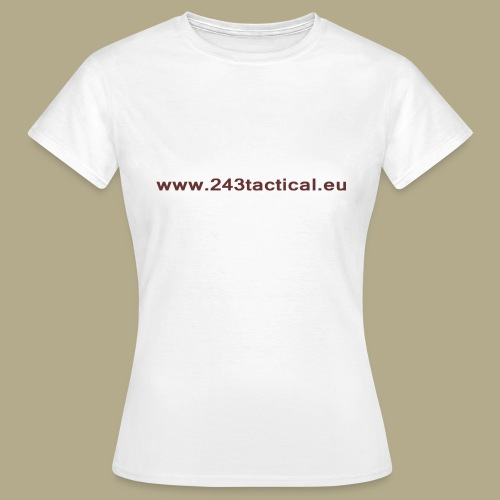 .243 Tactical Website - Vrouwen T-shirt