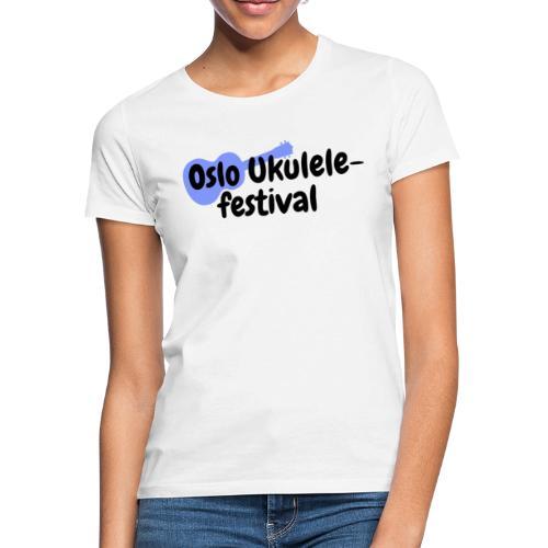 Oslo Ukulelefestival - T-skjorte for kvinner
