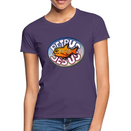 Petrus trifft Jesus Logo - Frauen T-Shirt