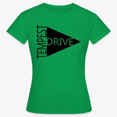 Komprimeret logo - Dame-T-shirt
