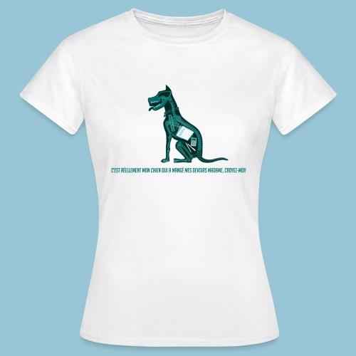 T-shirt femme imprimé Chien au Rayon-X - T-shirt Femme