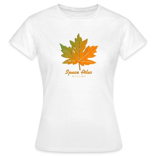 Space Atlas Long Sleeve T-shirt Autumn Leaves - Dame-T-shirt