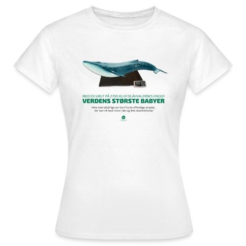 Blåhvalens unger - Dame-T-shirt