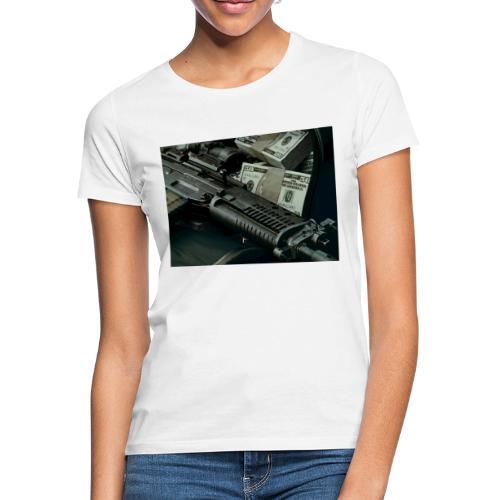 money and gun - Frauen T-Shirt
