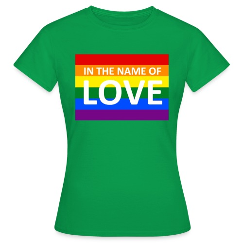 IN THE NAME OF LOVE RETRO T-SHIRT - Dame-T-shirt