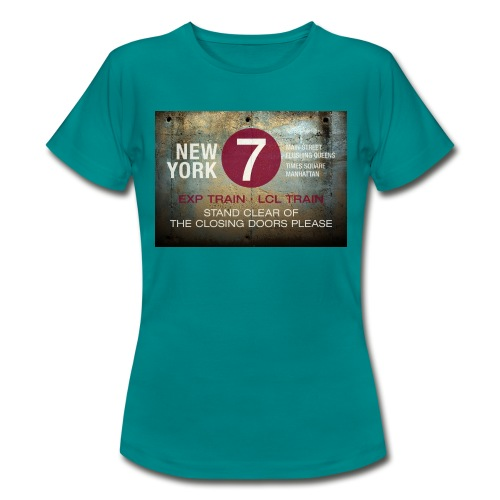 NYC subway stand clear of the closing doors please - Women's T-Shirt