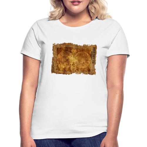 map of the world 2241469 1920 - Frauen T-Shirt