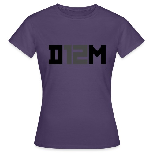 D12M: SHORT BLACK - Vrouwen T-shirt