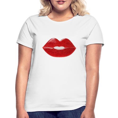Labbra con glitter - Maglietta da donna