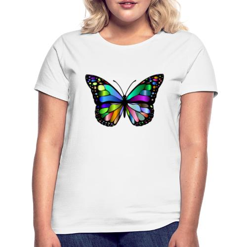 Kolorwy Motyl - Koszulka damska