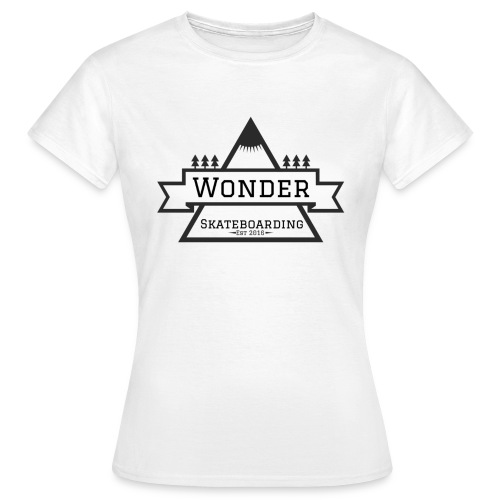 Wonder T-shirt: mountain logo - Dame-T-shirt