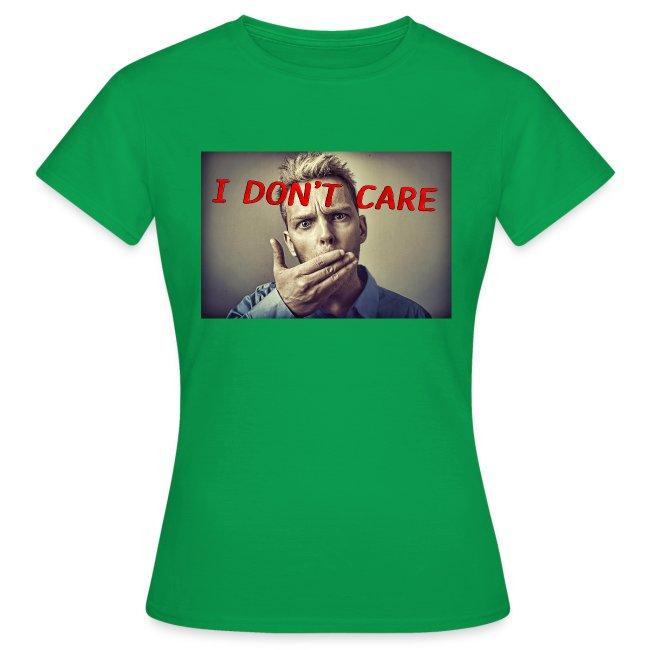 I don't care shirt