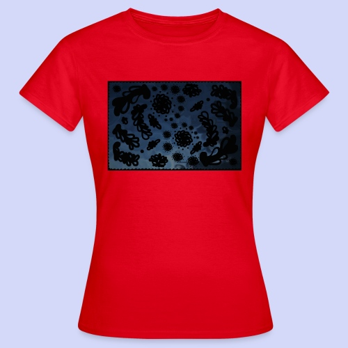late night doodle - Female Shirt - Dame-T-shirt