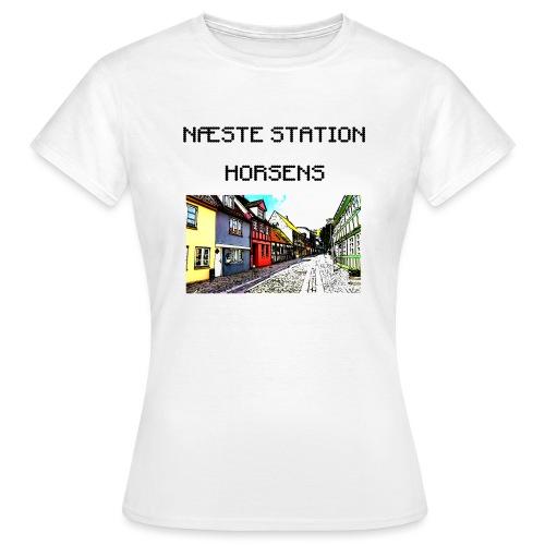 Næste station - Horsens - Dame-T-shirt