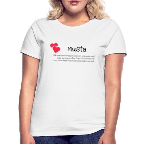 Musta - T-shirt dam