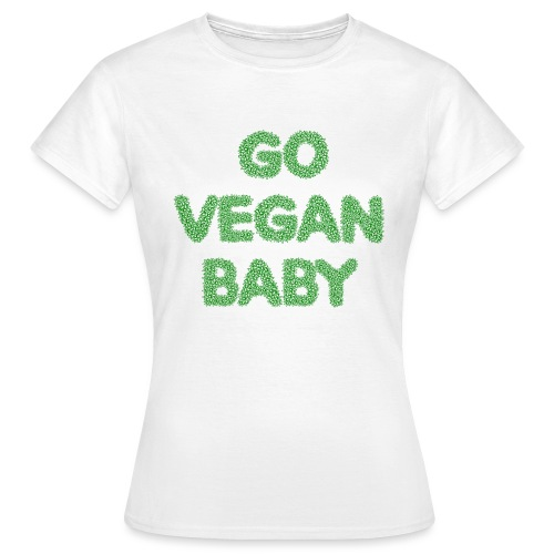 go vegan baby - Dame-T-shirt