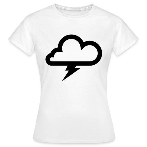 Wolke mit Blitz - Frauen T-Shirt