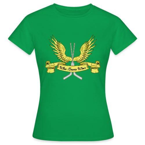Who Saves Wins, Hockey Goalie - Women's T-Shirt