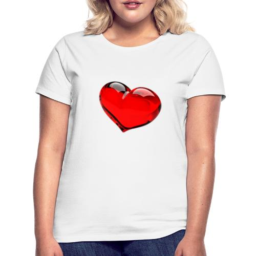 serce 3D - Koszulka damska