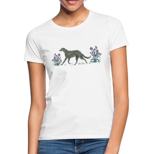 Deerhound und Disteln - Frauen T-Shirt
