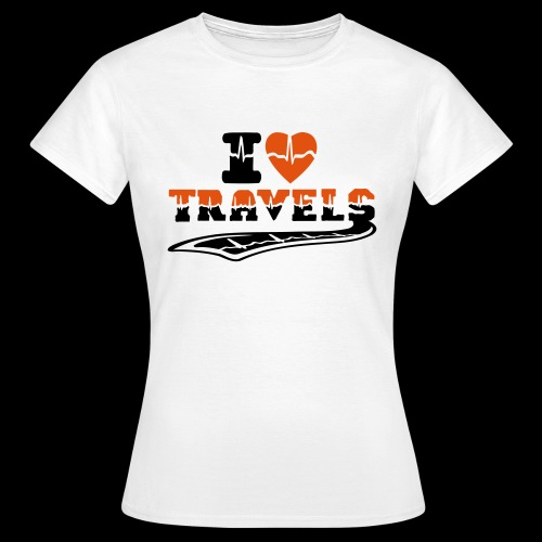 i love travels surprises 2 col - Women's T-Shirt