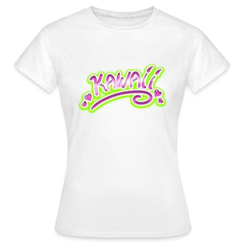Kawaii Rose et Vert - T-shirt Femme