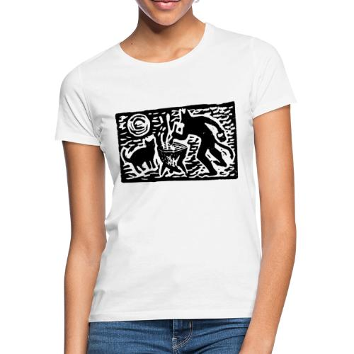 Teufel mit Katze - Frauen T-Shirt