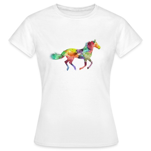 Cheval multicolore - T-shirt Femme