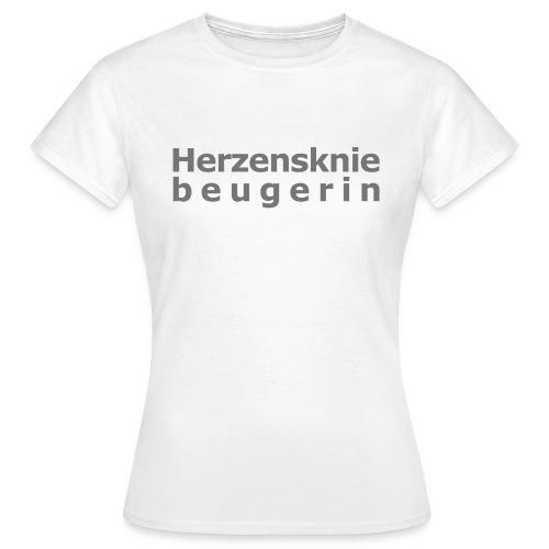 Herzenskniebeugerin - Frauen T-Shirt