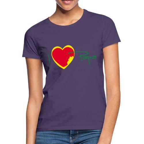 I love papa - Rasta Vert Jaune Rouge - T-shirt Femme