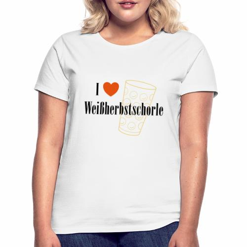 I ♥ Weißherbstschorle - Frauen T-Shirt