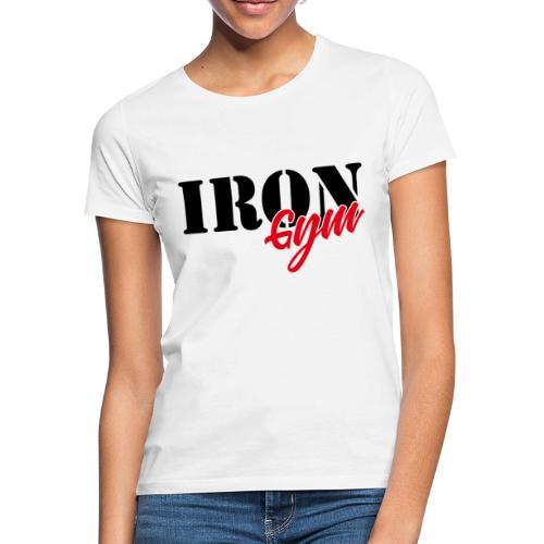 iron gym logo black - Camiseta mujer