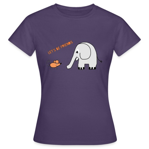 Elephant and mouse, friends - Women's T-Shirt