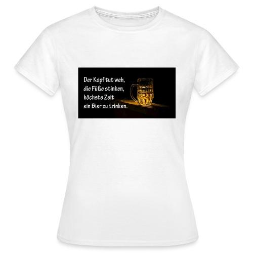Bier Sprueche - Frauen T-Shirt