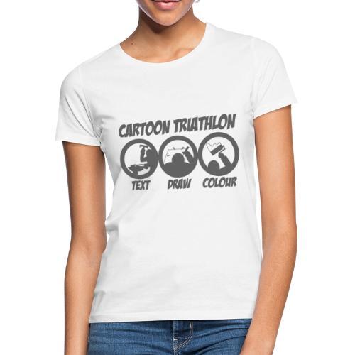 Cartoon Triathlon von TSEKA - Frauen T-Shirt