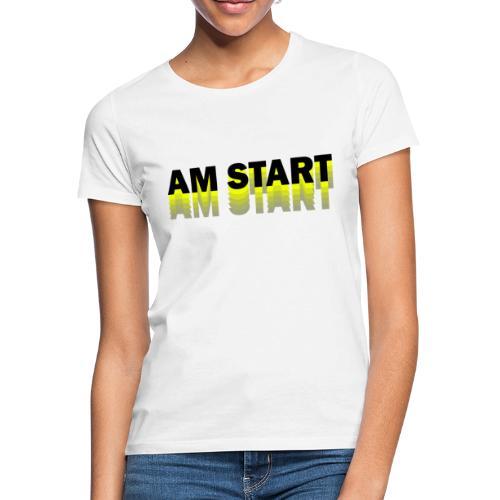 am Start - gelb schwarz faded - Frauen T-Shirt