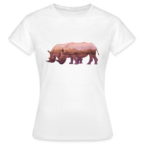 Nashorn Alpen - Frauen T-Shirt