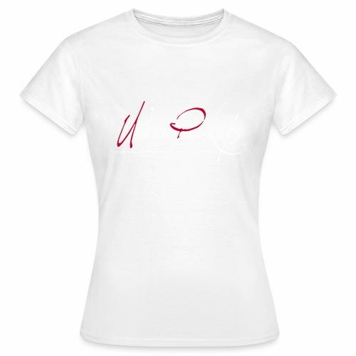 Logga röd och vit text - T-shirt dam