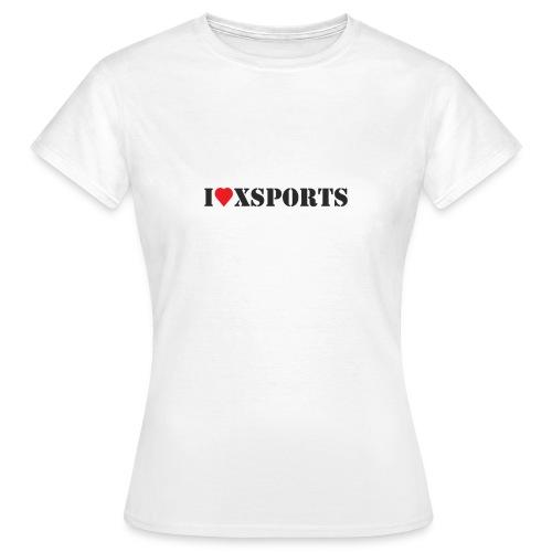 I love Xsports - T-shirt Femme
