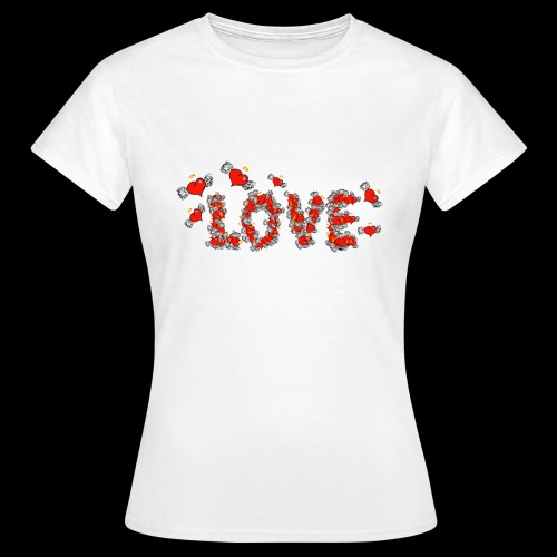 Flying Hearts LOVE - Dame-T-shirt