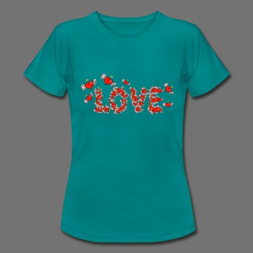 Flying Hearts LOVE - Women's T-Shirt