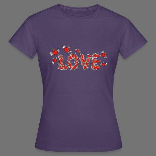 Latające miłości serc - Koszulka damska